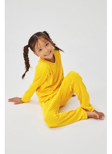 Penti Kız Çocuk Autumn Pointel 2Li Pijama Takımı Renkli
